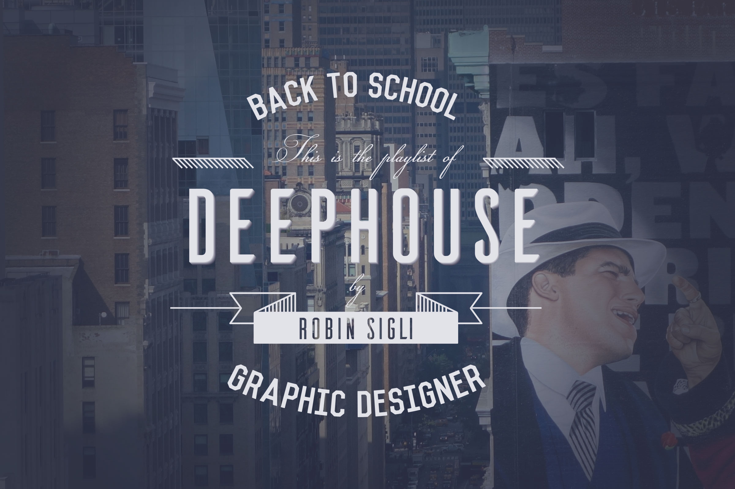 Travail typographique deep house cover robin sigli for Deep house covers